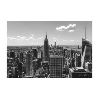 Photo of New York City with Empire State Building Canvas Print