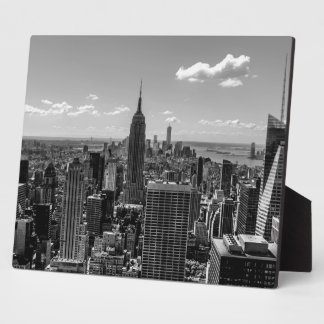 Photo of New York City with Empire State Building Display Plaques