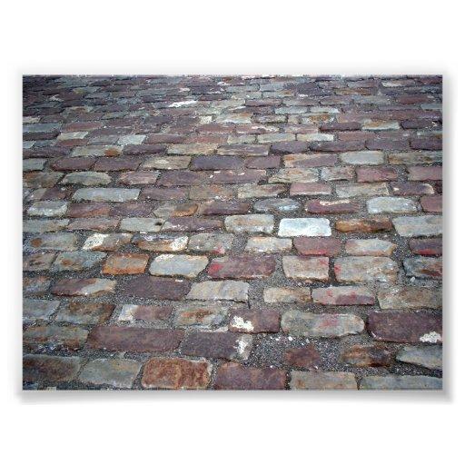 Photo of old bricks under a bridge