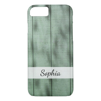 Photo of Old Green Barn Wood, Personalized iPhone 8/7 Case