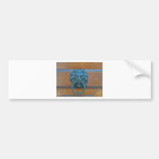 Photo of rustic door decoration in Italy Europe Bumper Sticker