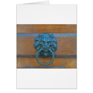 Photo of rustic door decoration in Italy, Europe Card