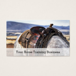 Photo of Saddle & Horse - Trainer - Business Card