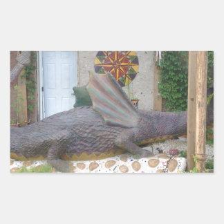 Photo of Samantha the Dragon Rectangular Sticker