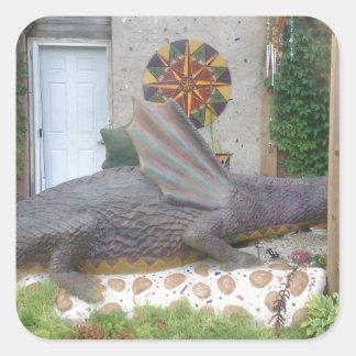 Photo of Samantha the Dragon Square Sticker