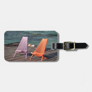 Photo of seaside chairs bag tag