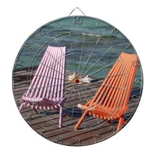 Photo of seaside chairs dart board