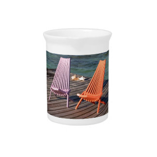 Photo of seaside chairs drink pitcher