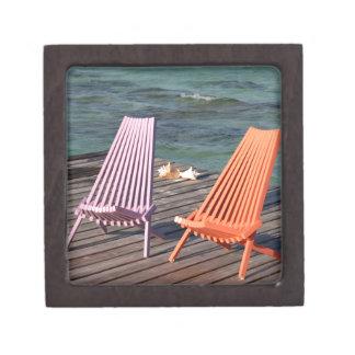 Photo of seaside chairs gift box