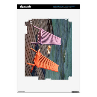 Photo of seaside chairs iPad 3 decals