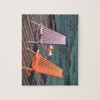 Photo of seaside chairs jigsaw puzzle