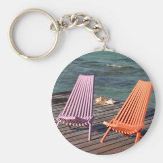 Photo of seaside chairs keychain