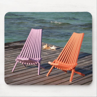 Photo of seaside chairs mouse pad