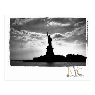 photo of statue of liberty postcard