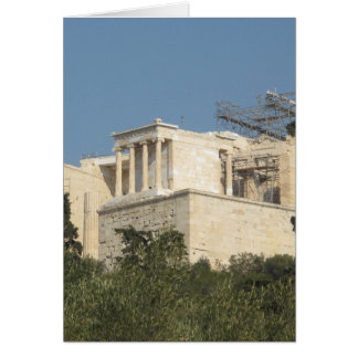 Photo of the Ancient Greek Parthenon from afar Card