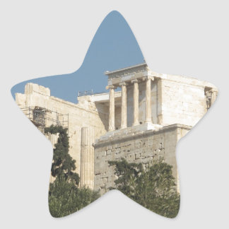 Photo of the Ancient Greek Parthenon from afar Star Sticker