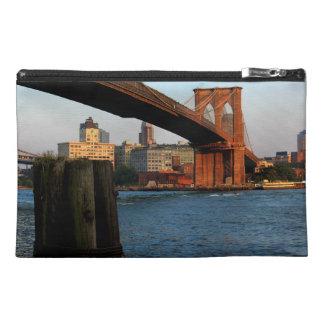 Photo of the Brooklyn Bridge in New York City Travel Accessory Bag