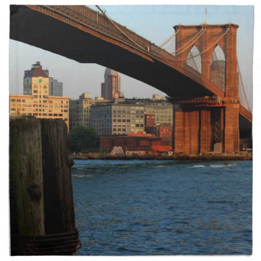 Photo of the Brooklyn Bridge in New York City Napkins