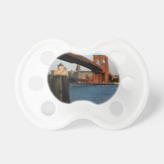 Photo of the Brooklyn Bridge in New York City Baby Pacifier