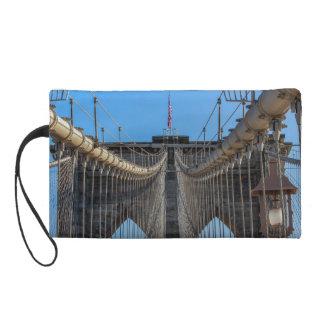 Photo of the Brooklyn Bridge in NYC Wristlet Purse