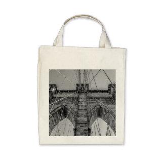 Photo of the Brooklyn Bridge in NYC Canvas Bag