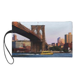 Photo of the Brooklyn Bridge in NYC Wristlet Clutch