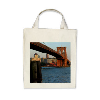 Photo of the Brooklyn Bridge in NYC Canvas Bags