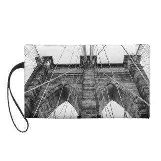Photo of the Brooklyn Bridge in NYC Wristlet Purses