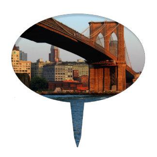 Photo of the Brooklyn Bridge in NYC Cake Pick