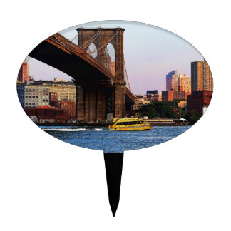 Photo of the Brooklyn Bridge in NYC Cake Toppers
