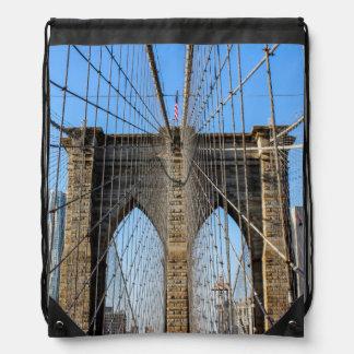 Photo of the Brooklyn Bridge in NYC Drawstring Bag