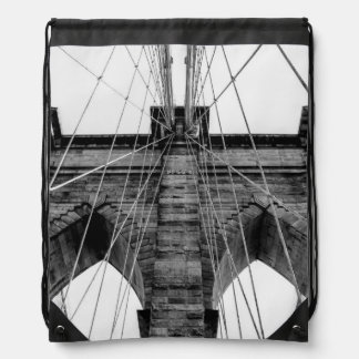 Photo of the Brooklyn Bridge in NYC Drawstring Bags