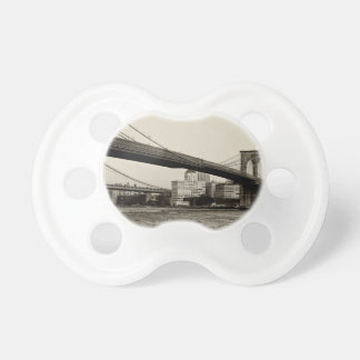 Photo of the Brooklyn Bridge in NYC Baby Pacifier
