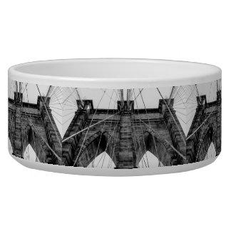 Photo of the Brooklyn Bridge in NYC Pet Water Bowl