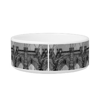 Photo of the Brooklyn Bridge in NYC Cat Water Bowls