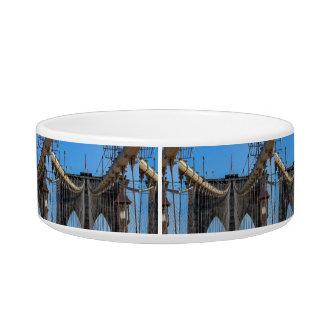 Photo of the Brooklyn Bridge in NYC Pet Food Bowl