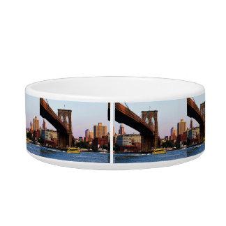 Photo of the Brooklyn Bridge in NYC Cat Bowl