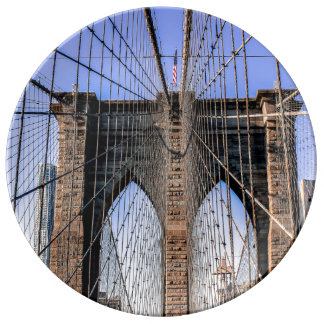 Photo of the Brooklyn Bridge in NYC Porcelain Plates