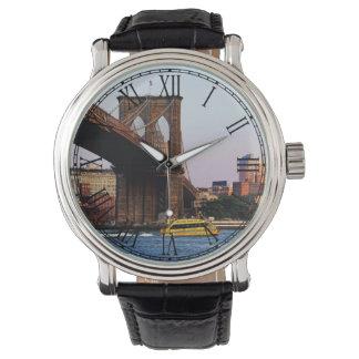 Photo of the Brooklyn Bridge in NYC Wristwatch