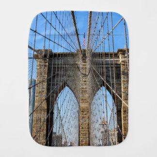 Photo of the Brooklyn Bridge in NYC Baby Burp Cloths