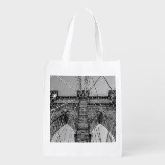 Photo of the Brooklyn Bridge in NYC Grocery Bags