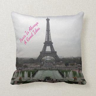 Photo Of The Eiffel Tower, Paris, France Throw Pillow