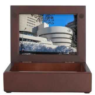 Photo of the Guggenheim Museum in New York City Keepsake Boxes