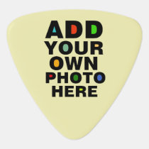 photo of the guitarist / custom & cool guitar pick