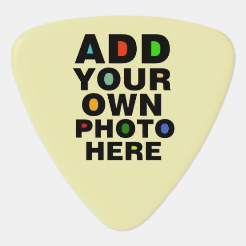 photo of the guitarist  custom  cool guitar pick