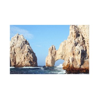 Photo of the Los Arcos rock formation on canvas