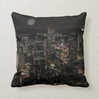 Photo of the New York City Night Skyline Landscape Throw Pillows