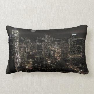 Photo of the New York City Night Skyline Landscape Pillow