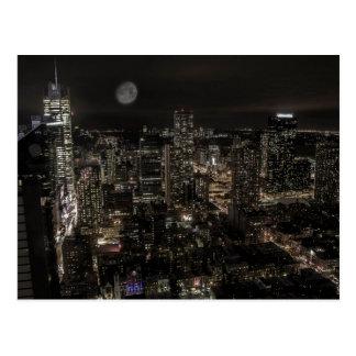 Photo of the New York City Night Skyline Landscape Postcard