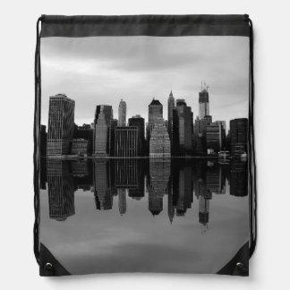 Photo of the New York City Skyline Landscape Drawstring Bag